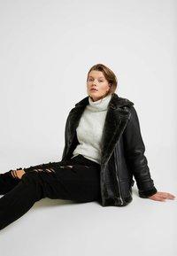 Dorothy Perkins Curve - ROLL NECK JUMPER - Maglione - grey - 4