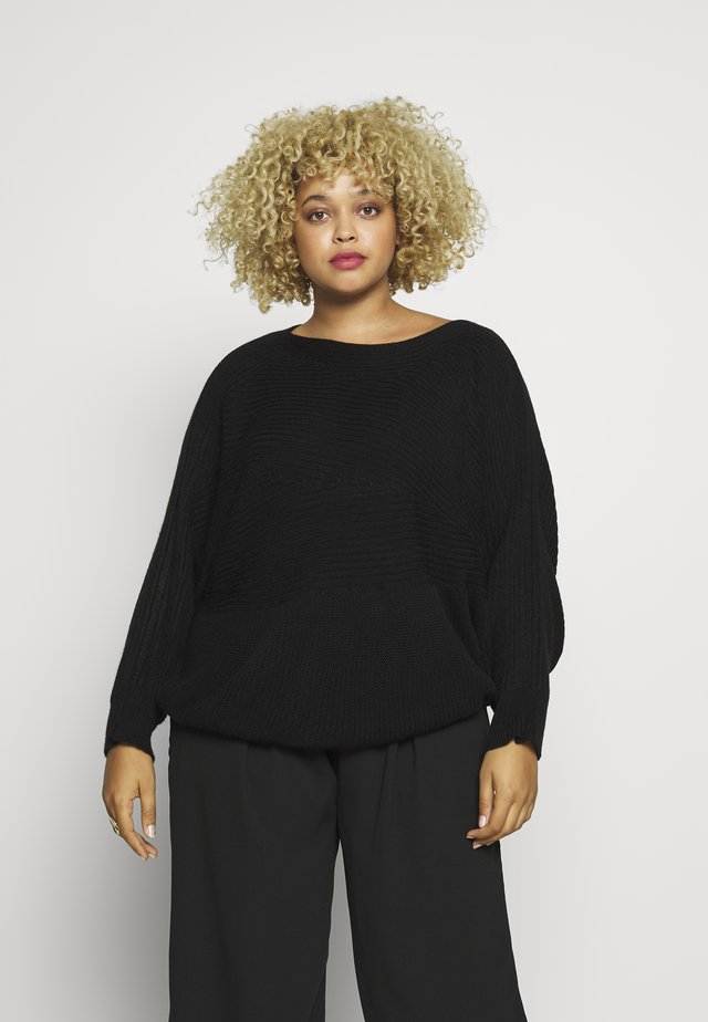 BATWING JUMPER - Strickpullover - black