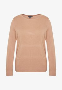 Dorothy Perkins Curve - BUTTON CUFF JUMPER - Sweter - camel - 4