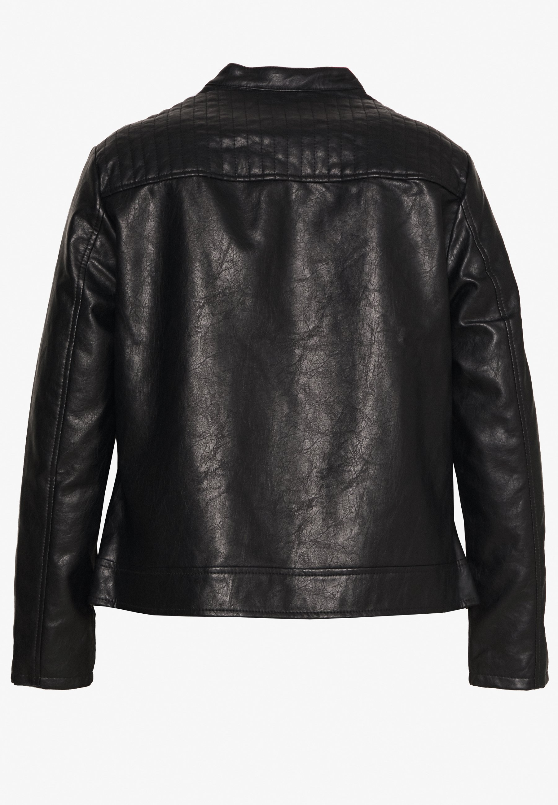 Dorothy Perkins Curve Collarless Jacket - Giacca In Similpelle Black p6RAW