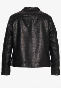 Dorothy Perkins Curve - COLLARLESS JACKET - Faux leather jacket - black - 1