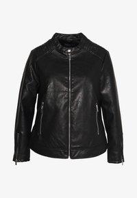 Dorothy Perkins Curve - COLLARLESS JACKET - Faux leather jacket - black - 0