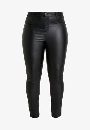 COATED FRANKIE - Kalhoty - black
