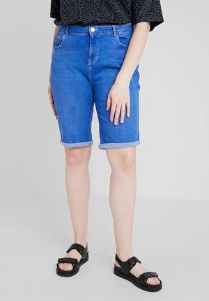 KNEE - Denim shorts - bright blue