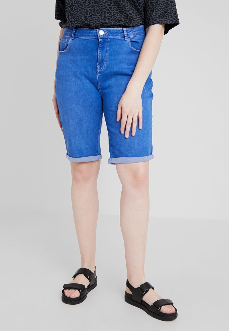 Dorothy Perkins Curve - KNEE - Jeans Shorts - bright blue