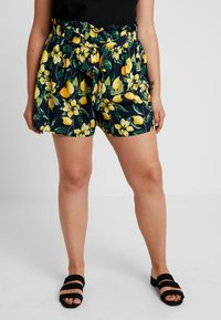 Dorothy Perkins Curve - TIE WAIST - Shorts - navy base - 0