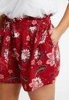 Dorothy Perkins Curve - TIE WAIST SARASSA PRINT - Shorts - rust
