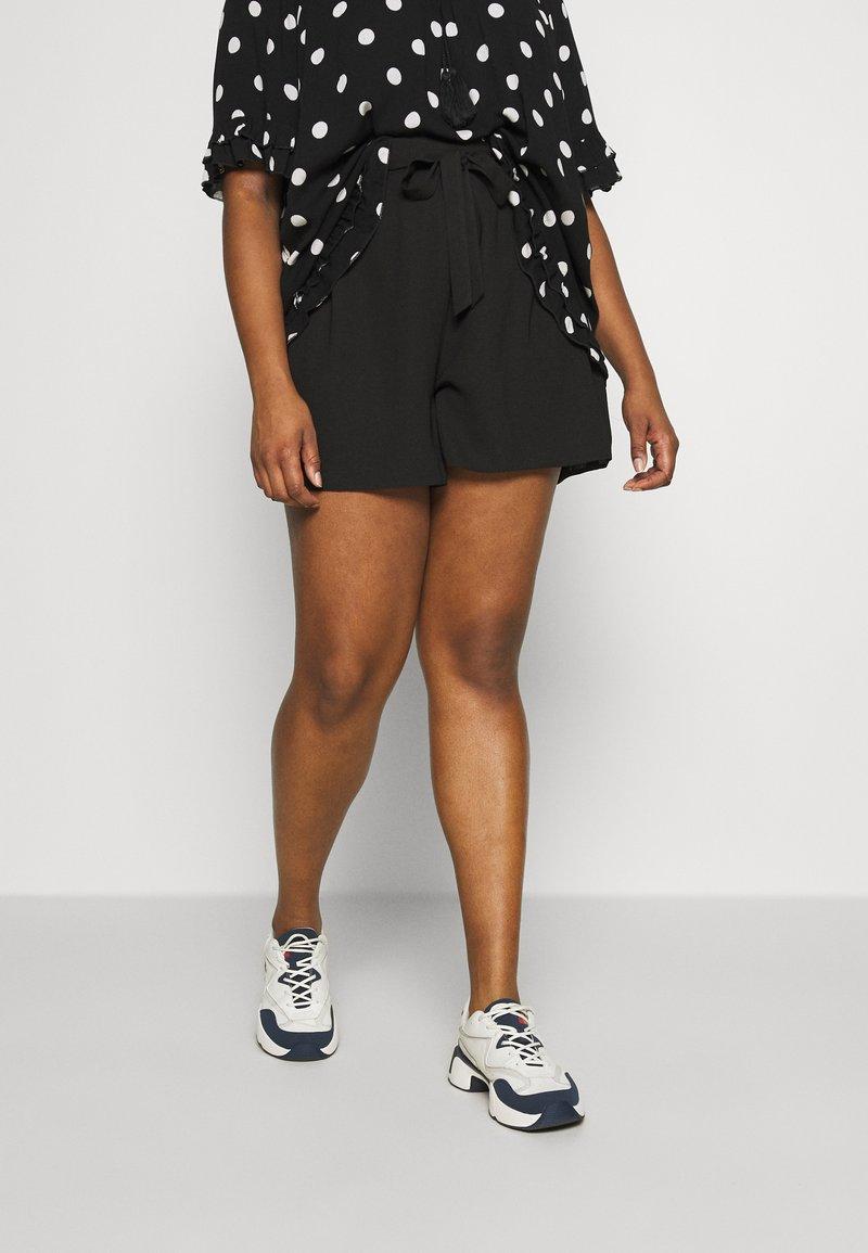 Dorothy Perkins Curve - TIE WAIST  - Shorts - black