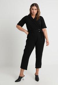 Dorothy Perkins Curve - MICHAELA CREPE TUX WRAP  - Overall / Jumpsuit /Buksedragter - black - 0