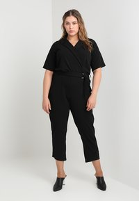 Dorothy Perkins Curve - MICHAELA CREPE TUX WRAP  - Overall / Jumpsuit /Buksedragter - black - 1