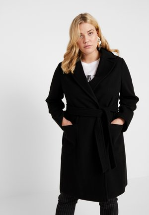 PATCH POCKET WRAP - Mantel - black