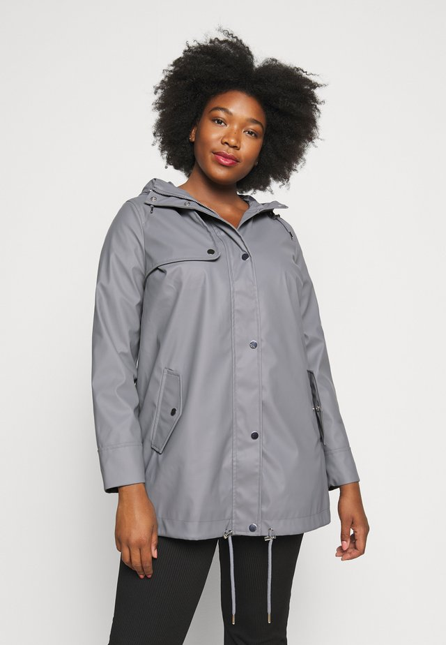 CURVE SHORT RAINCOAT - Regenjacke / wasserabweisende Jacke - light grey