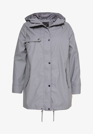 CURVE SHORT RAINCOAT - Impermeabile - light grey