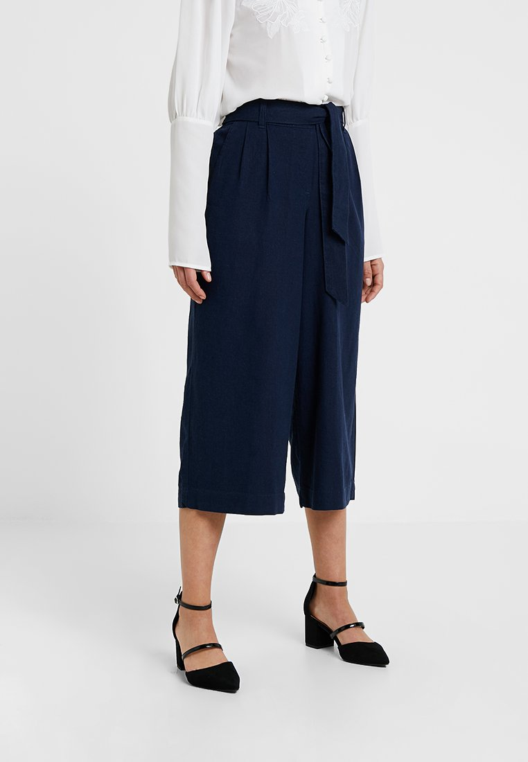 Dorothy Perkins Petite - CULOTTE - Trousers - navy