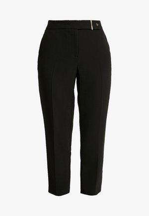 EDIT BUTTON TROUSERS - Trousers - black