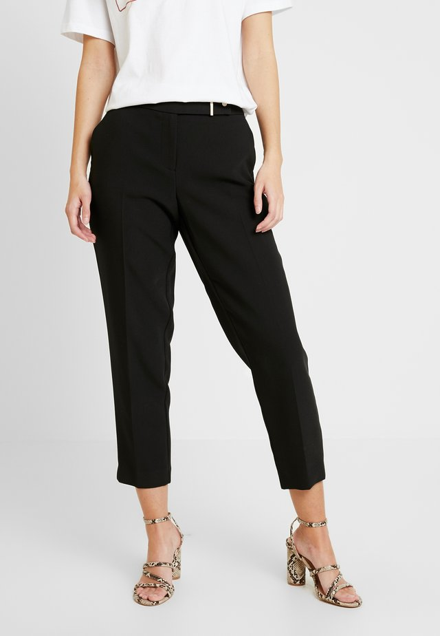 EDIT BUTTON TROUSERS - Trousers - black