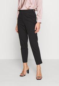 Dorothy Perkins Petite - HIGH WAISTED SLIM LEG TROUSER - Trousers - black - 0