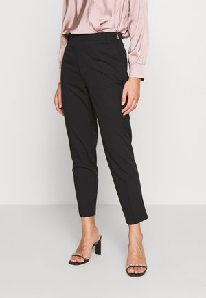 HIGH WAISTED SLIM LEG TROUSER - Pantalones - black