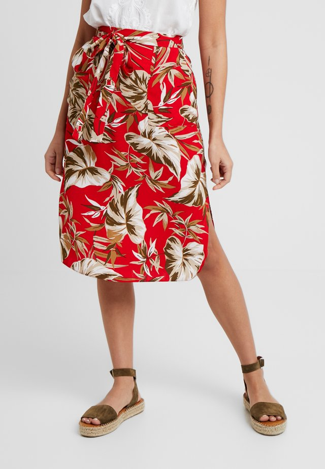TROPICAL LEAF SKIRT - Jupe trapèze - red