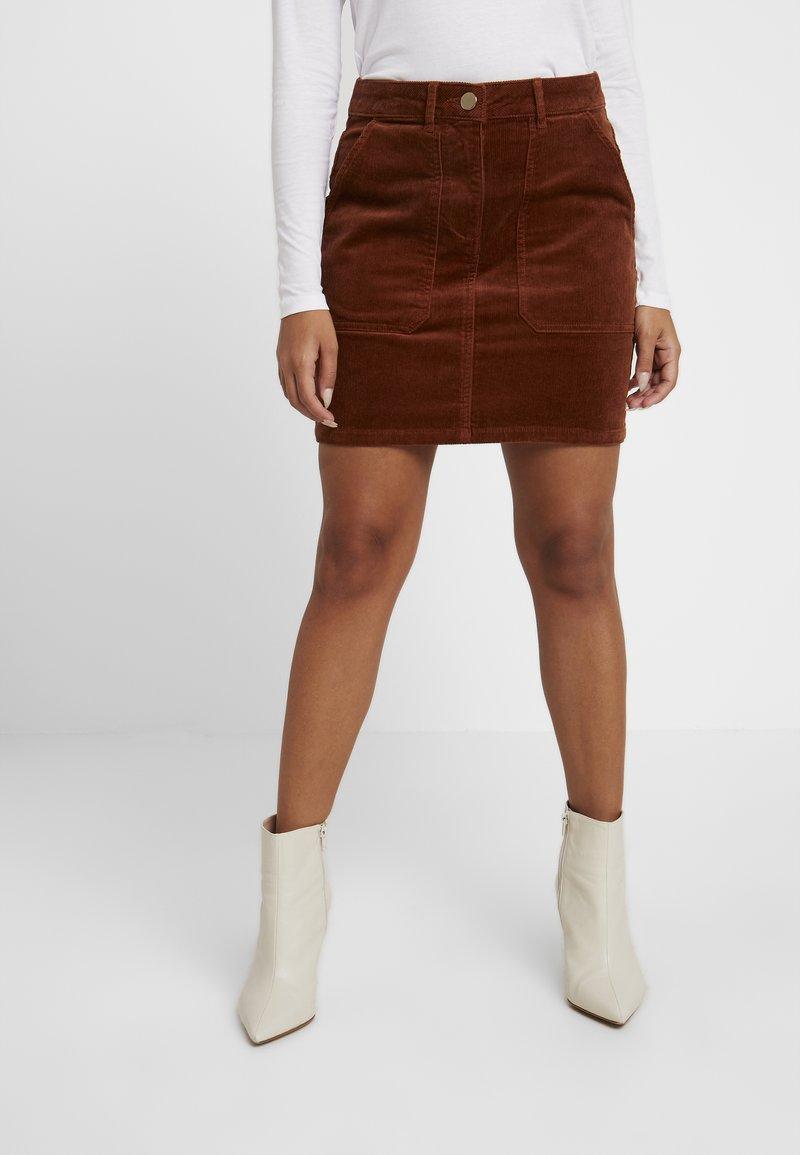 Dorothy Perkins Petite - A-line skirt - brown