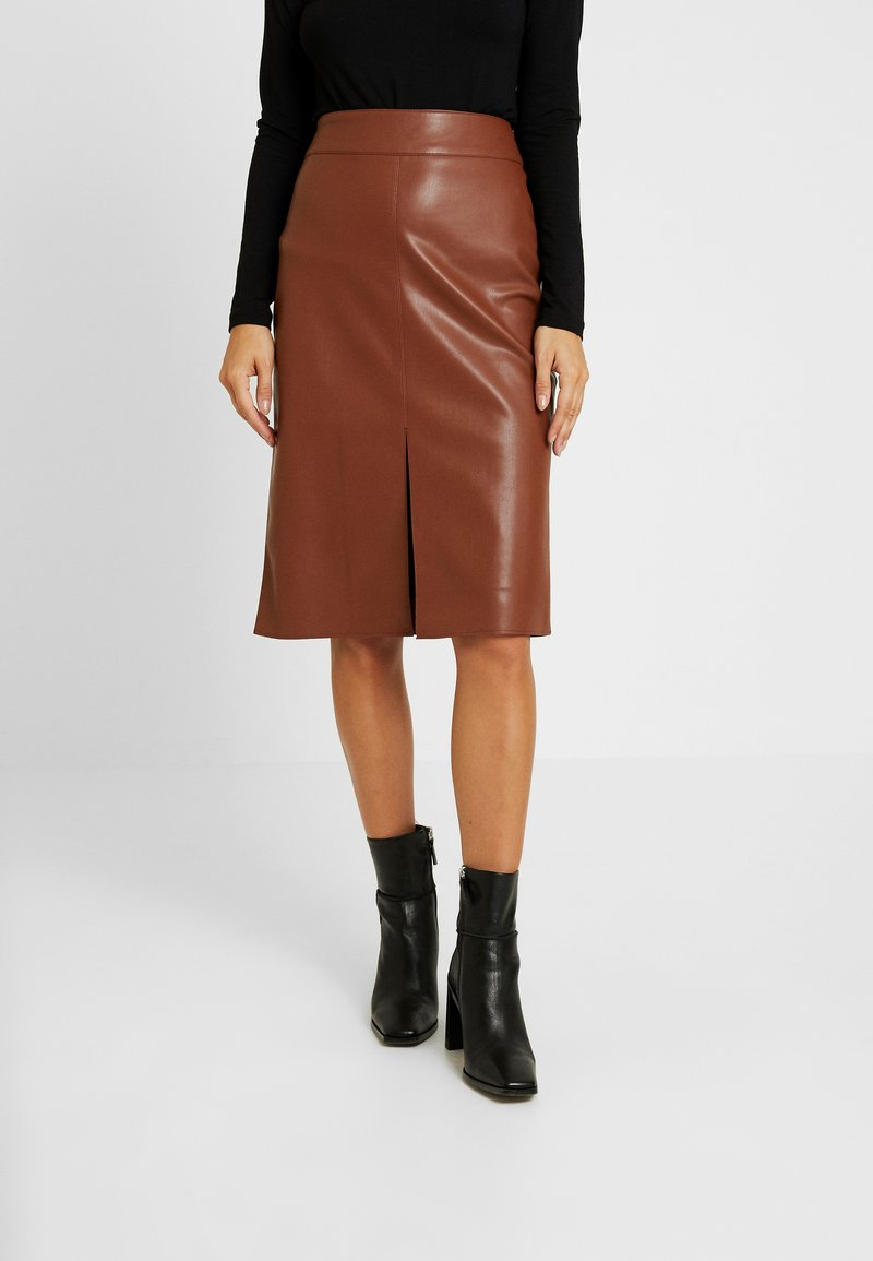 Dorothy Perkins Petite - MIDI - Pencil skirt - tan