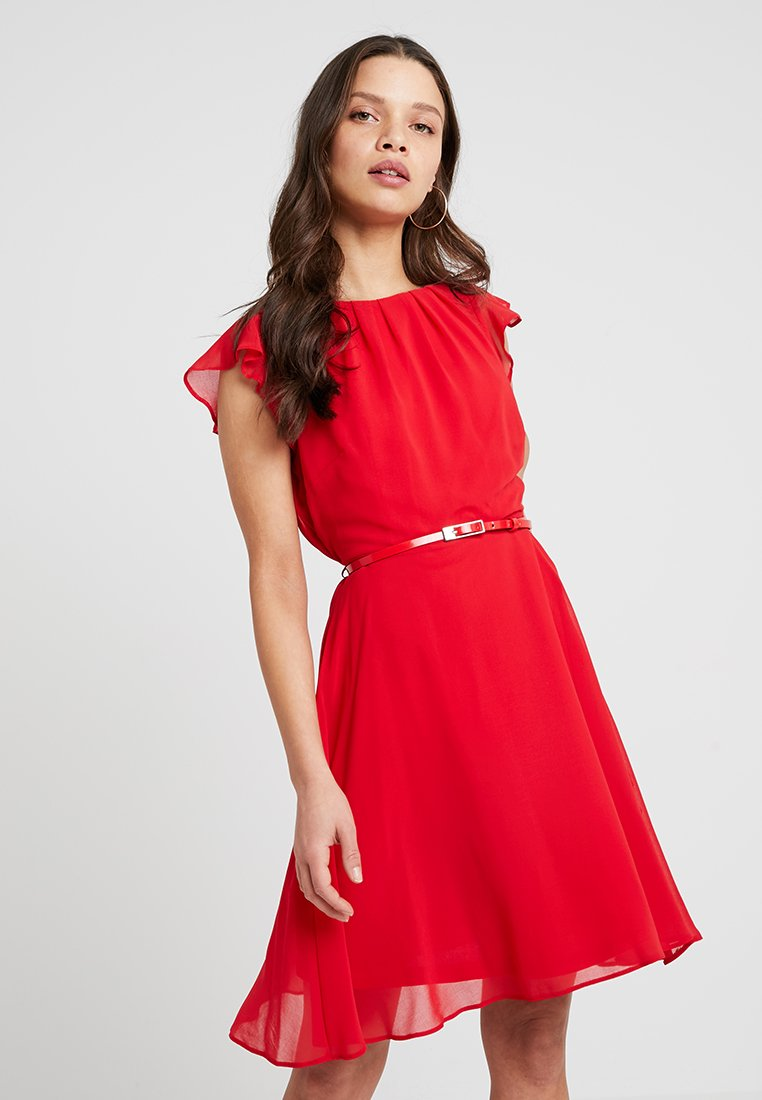 Dorothy Perkins Petite - SOFT BELTED DRESS - Freizeitkleid - red