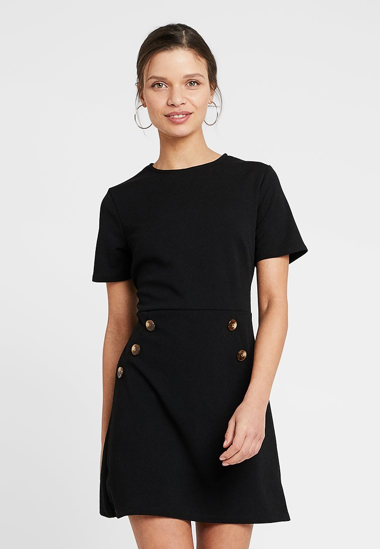 Dorothy Perkins Petite - LIVERPOOL BUTTONFRONT DRESS - Jerseykjoler - black