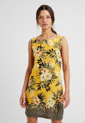 TROPICAL GEO BORDER SHIFT DRESS - Korte jurk - ochre