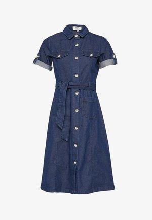 FLORAL DRESS - Denim dress - indigo