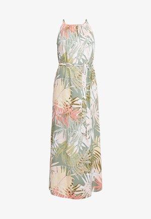 MULTI PALM DRESS - Vestido largo - white tropical