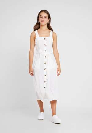 BUTTON FRONT MIDI DRESS - Robe chemise - ivory