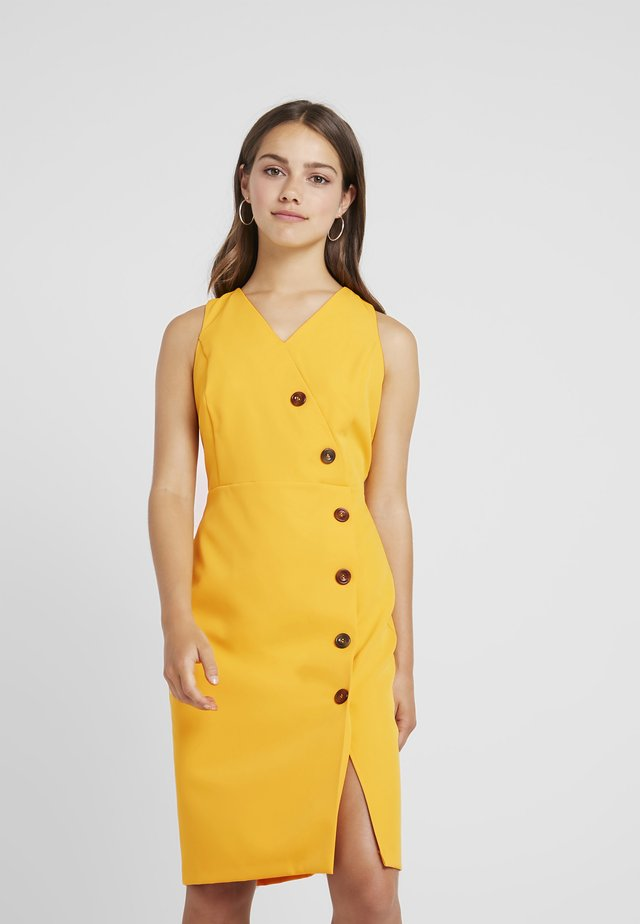 BUTTON FRONT TAILORED DRESS - Etuikjoler - ochre