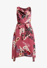Dorothy Perkins Petite - FLORAL COWL NECK DRESS - Vardagsklänning - purple - 4