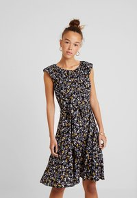 Dorothy Perkins Petite - DITSY BUTTON DRESS - Robe d'été - black - 0