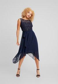Dorothy Perkins Petite - SLEEVELESS MIDI DRESS - Cocktail dress / Party dress - dark blue - 1