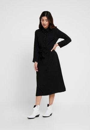 DRESS - Skjortekjole - black