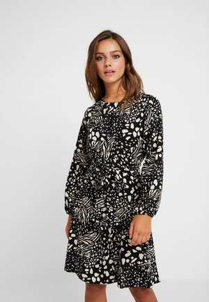 ABSTRACT PRINT FIT FLARE DRESS - Sukienka letnia - black