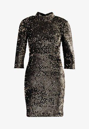 SEQUIN HIGH NECK DRESS - Juhlamekko - gold
