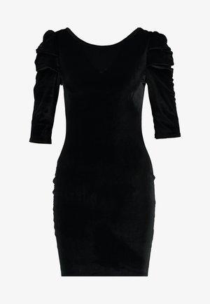 PUFF SLEEVE BODYCON - Cocktailklänning - black