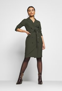 Dorothy Perkins Petite - SLEEVE TRENCH DRESS - Robe fourreau - khaki - 1