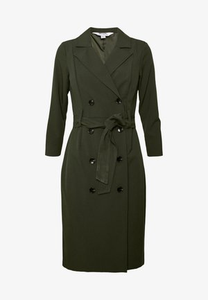 SLEEVE TRENCH DRESS - Shift dress - khaki