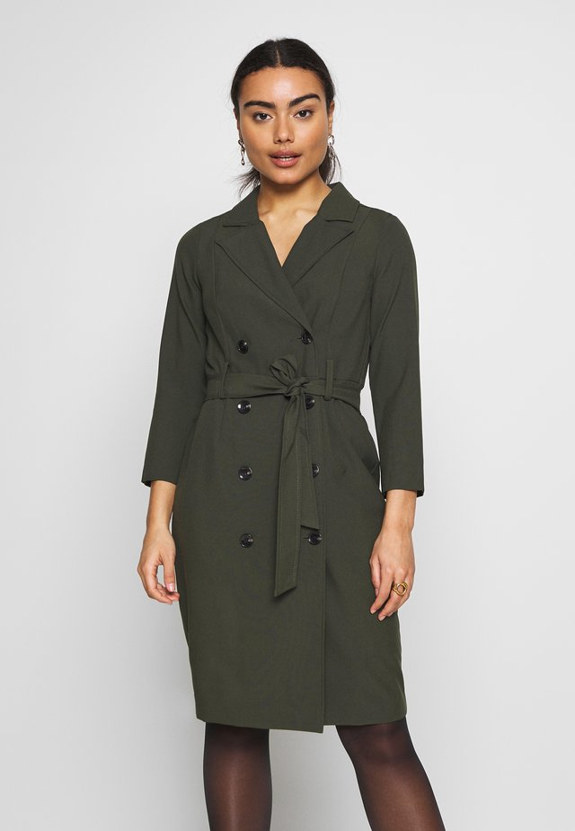 SLEEVE TRENCH DRESS - Robe fourreau - khaki