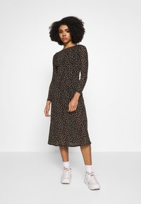 Dorothy Perkins Petite - PETITES SPOT THICK AND THIN DRESS - Kjole - black - 0