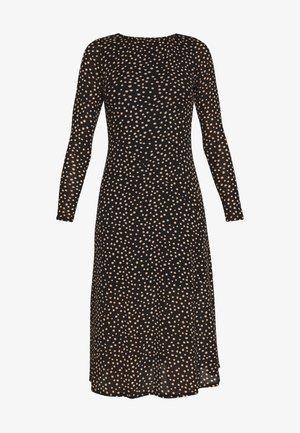 PETITES SPOT THICK AND THIN DRESS - Korte jurk - black