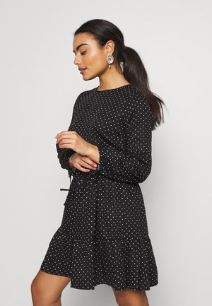 SPOT SMOCK DRESS - Vestido informal - black