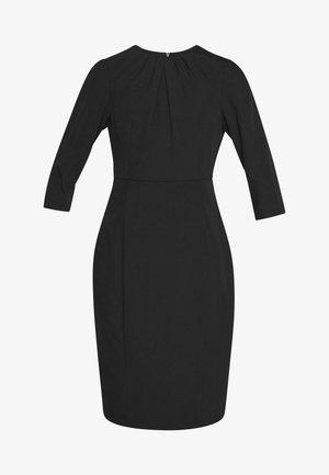 HIGH NECK SLEEVE DRESS - Sukienka etui - black