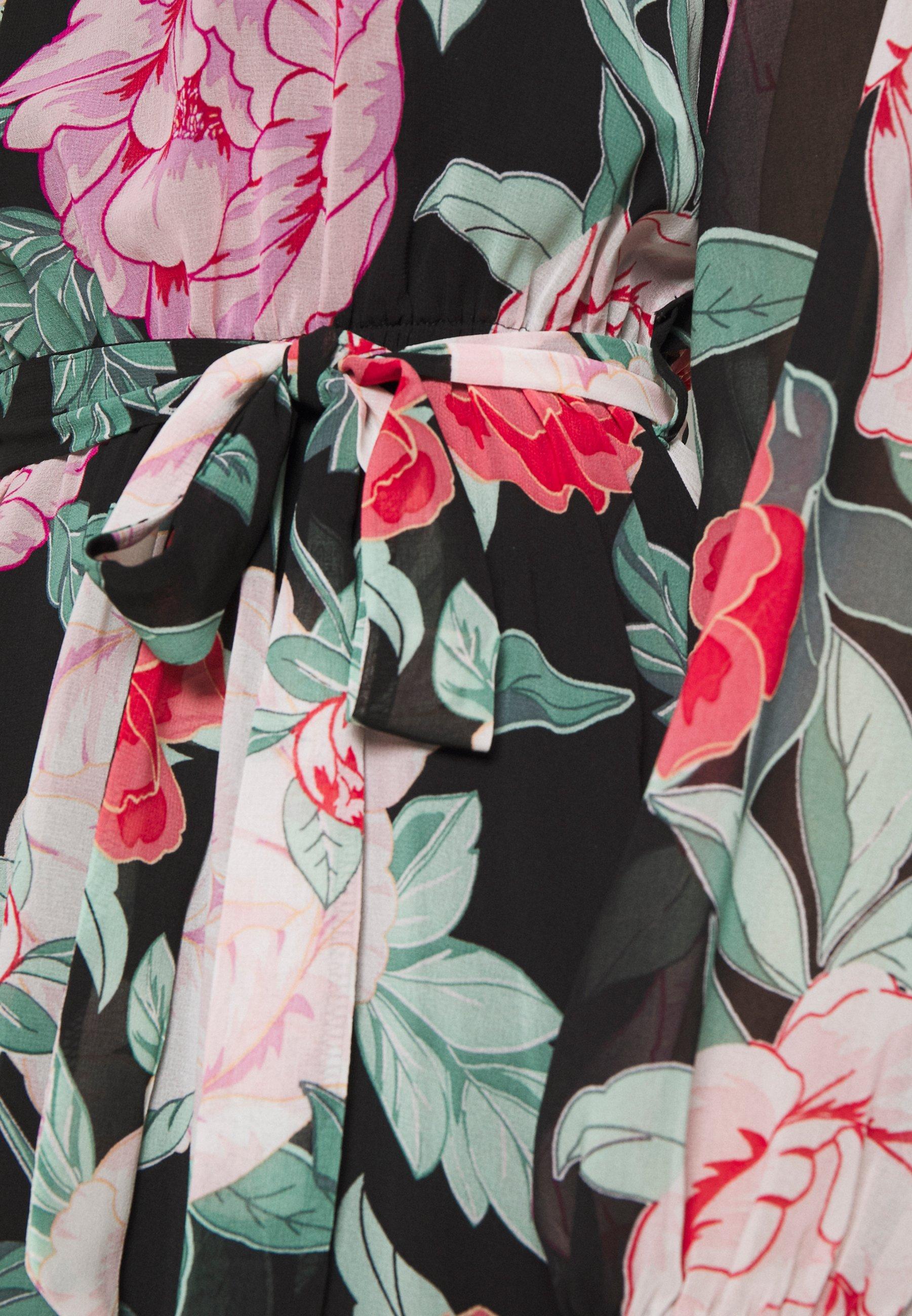 Dorothy Perkins Petite PETITES PINK AND RED FLORAL MINI DRESS - Sukienka letnia - multi coloured