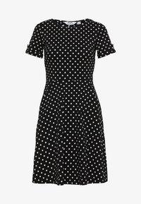 Dorothy Perkins Petite - SPOT DRESS - Žerzejové šaty - black - 0