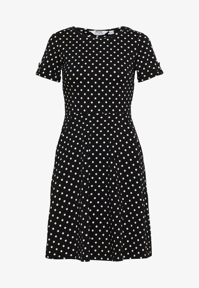 SPOT DRESS - Jerseyklänning - black