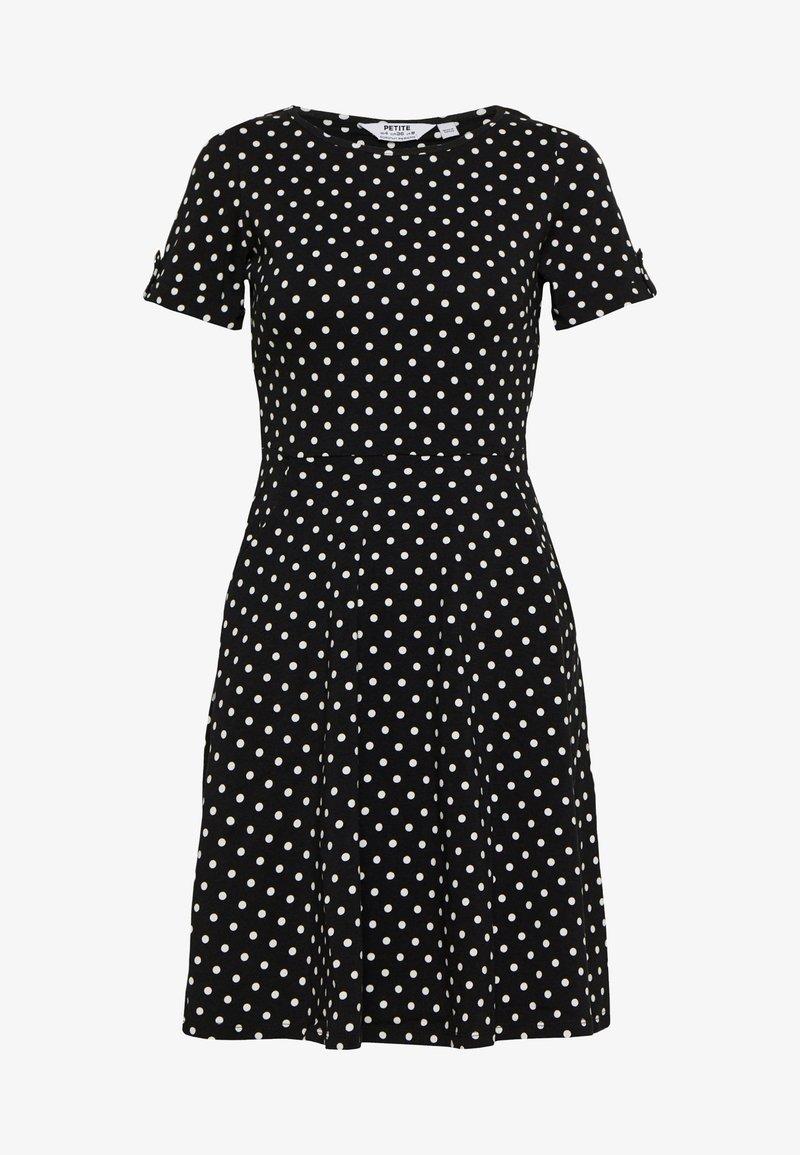 Dorothy Perkins Petite - SPOT DRESS - Žerzejové šaty - black